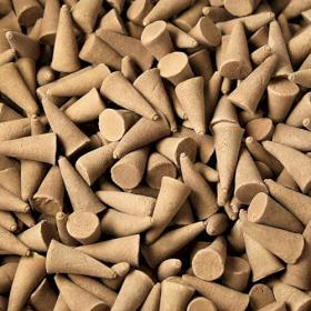Cônes d'encens indiens ambre X 10