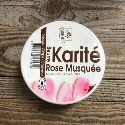 Beurre de karité à la rose musquée bio