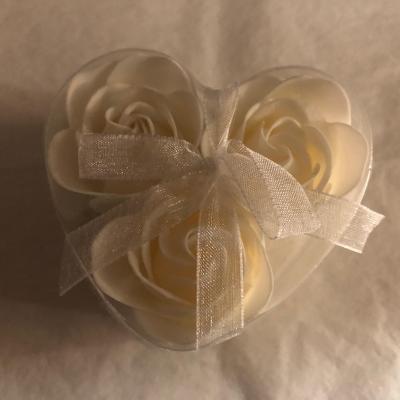 Boutons de rose de savon x 3 Blanc