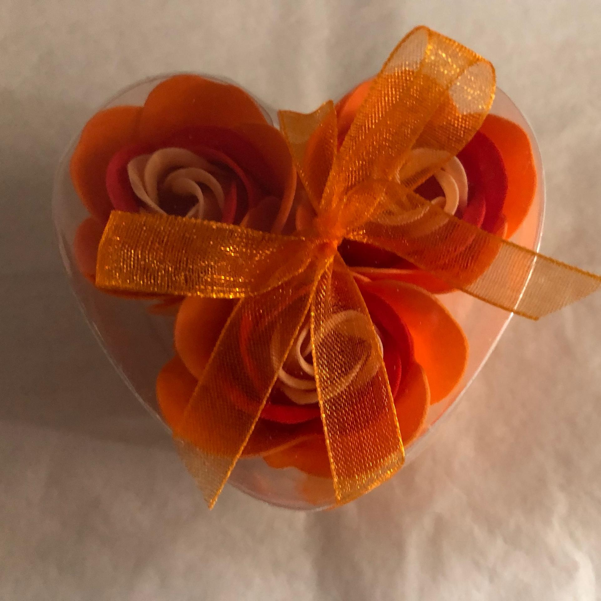 Boutons de rose x3 orange