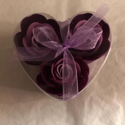 Boutons de rose de savon x 3 violet