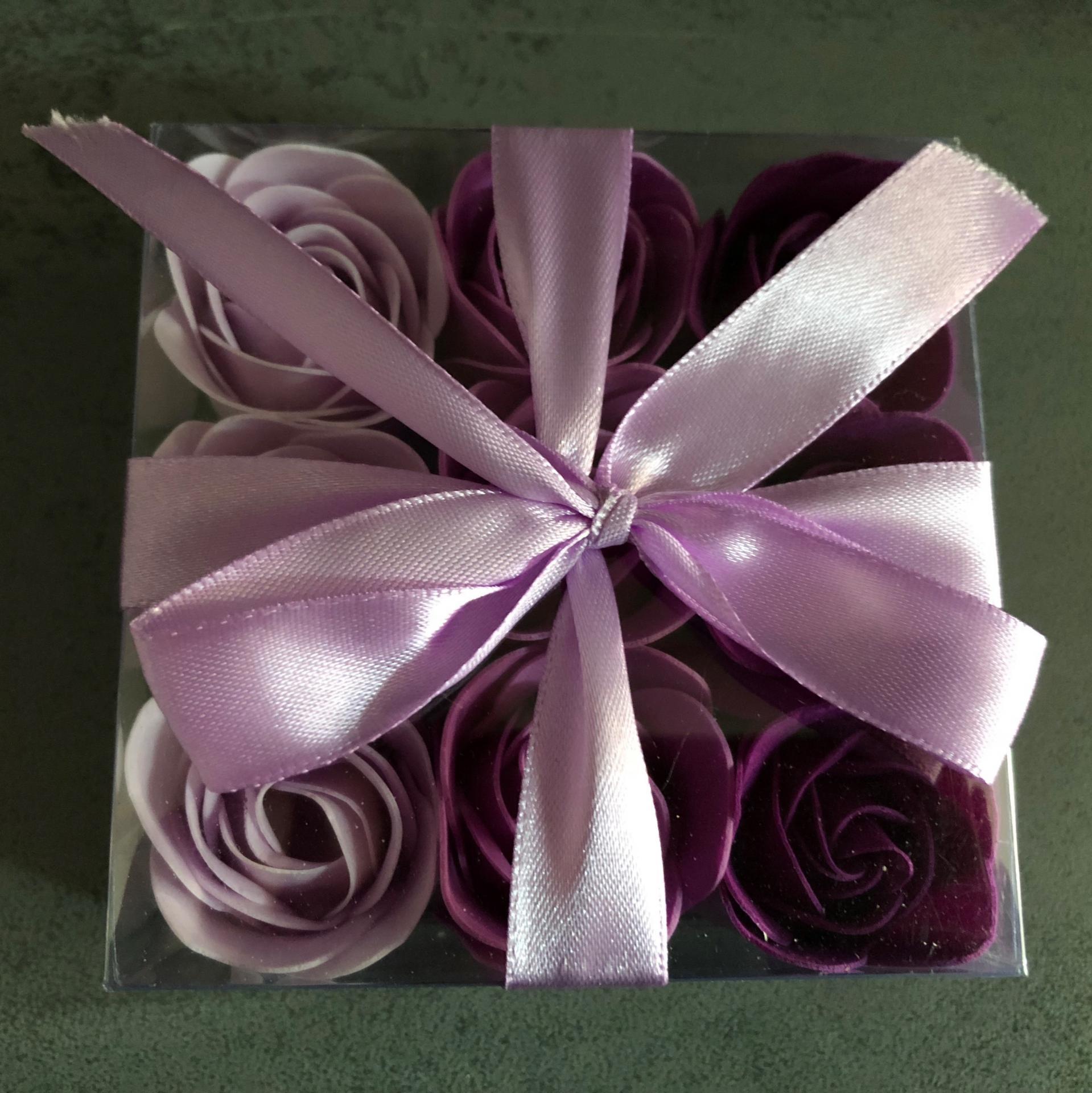 Boutons de rose x9 violet