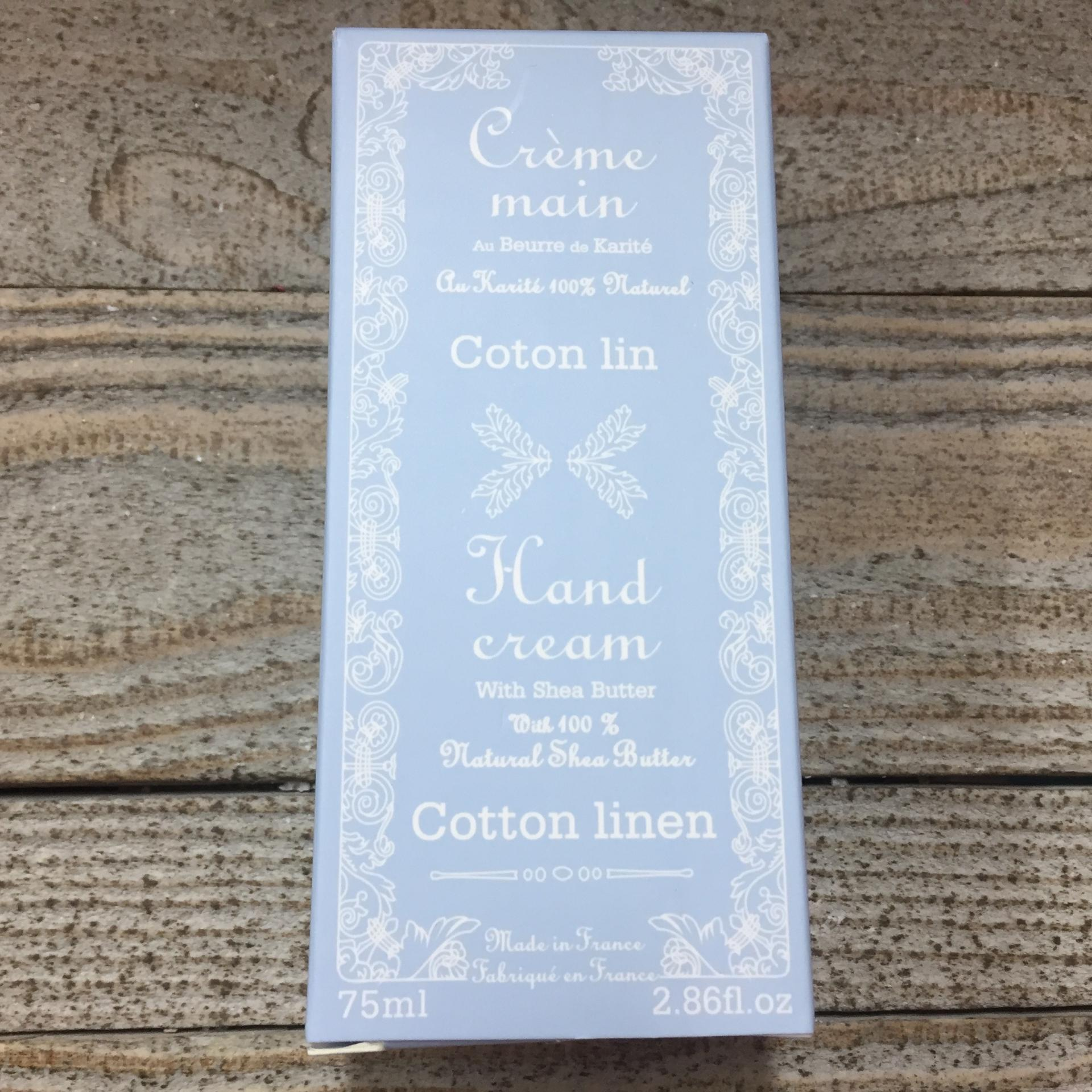 Creme mains coton lin