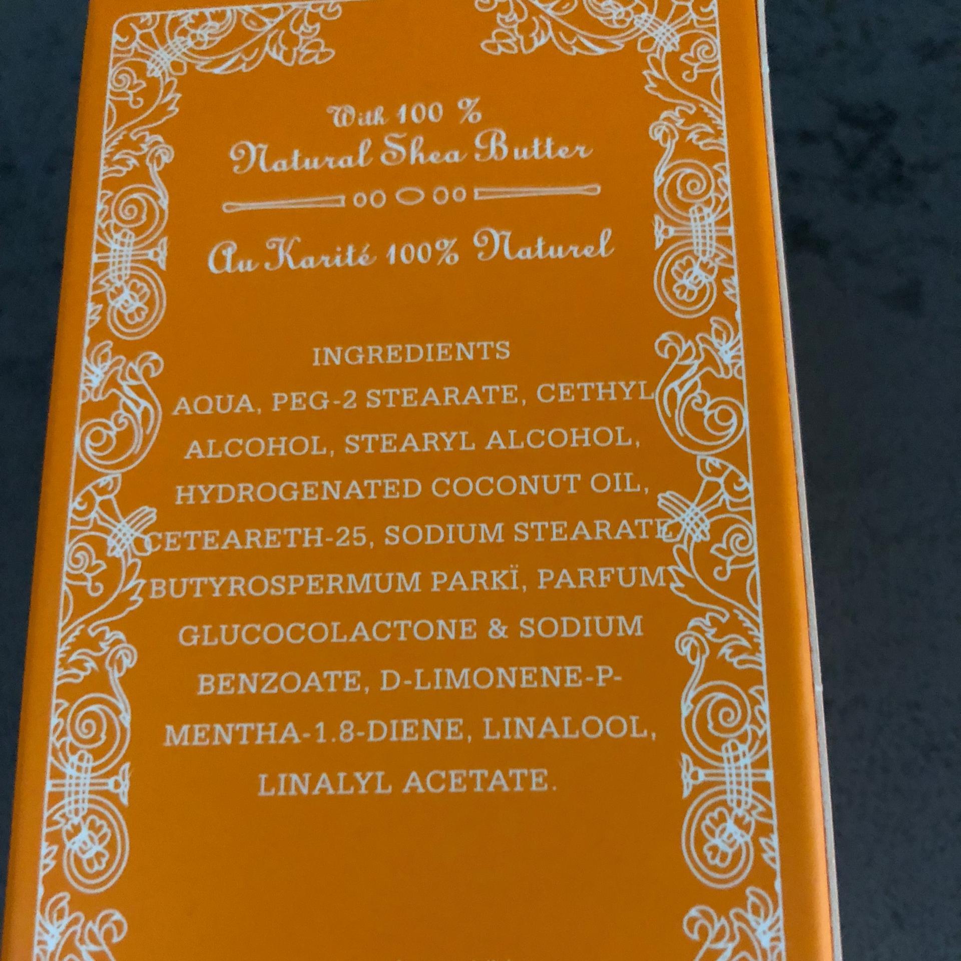 Cre me mains orange pamplemousse composition