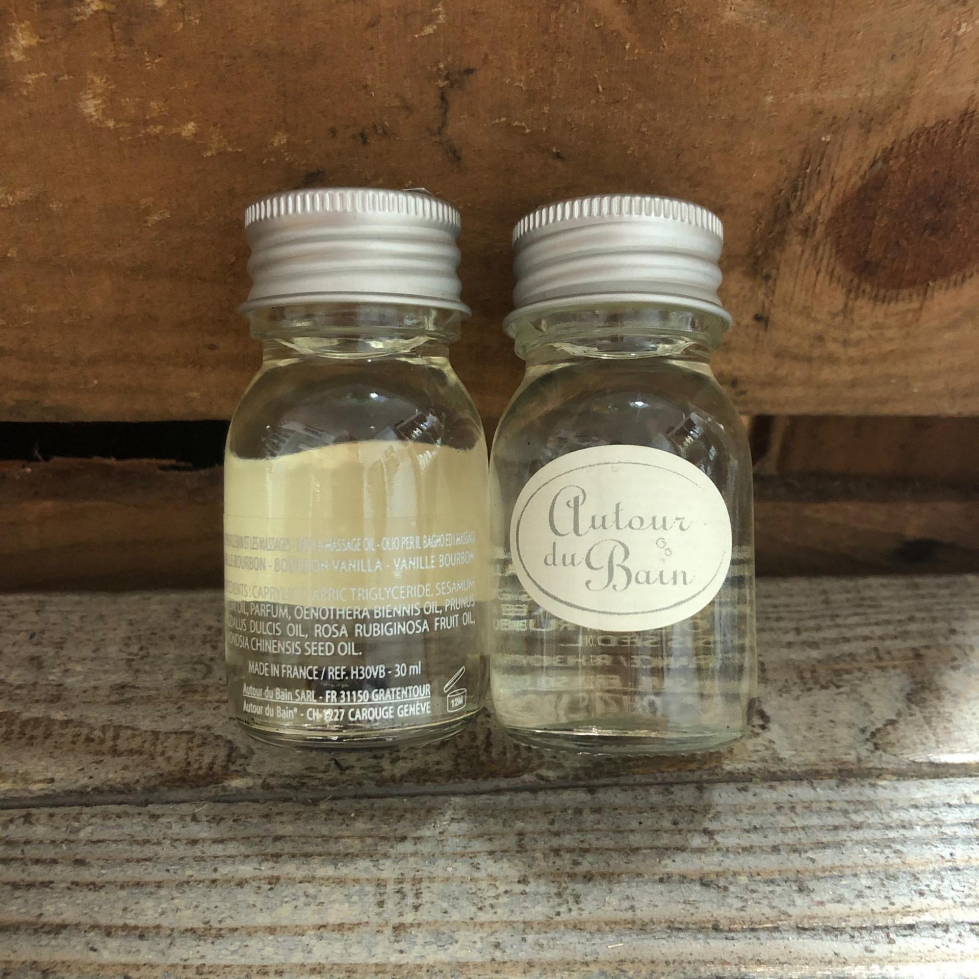 Huile de massage et bain vanille bourbon