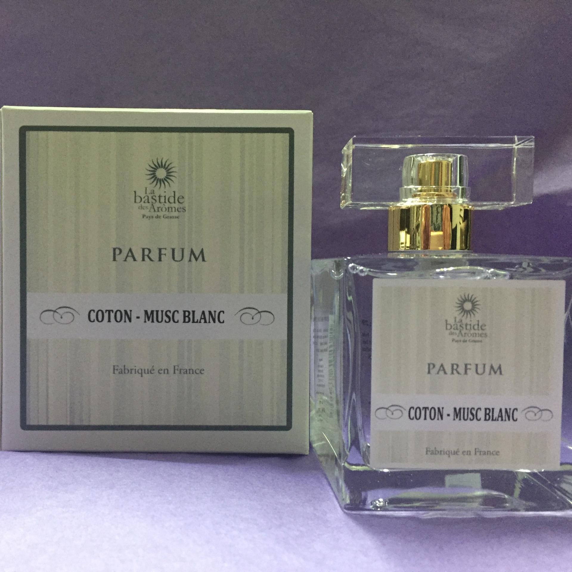 Parfum de grasse femme coton musc blanc