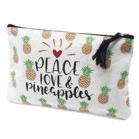 Petite pochette Zip à motif ananas