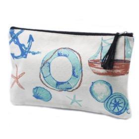 Petite pochette Zip à motif marine