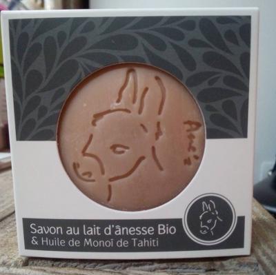 Savon au lait d'ânesse bio & Huile de Monoï de Tahiti