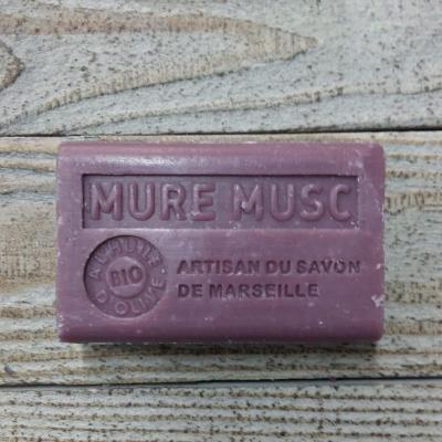 Savon à l'huile d'olive Mûre Musc