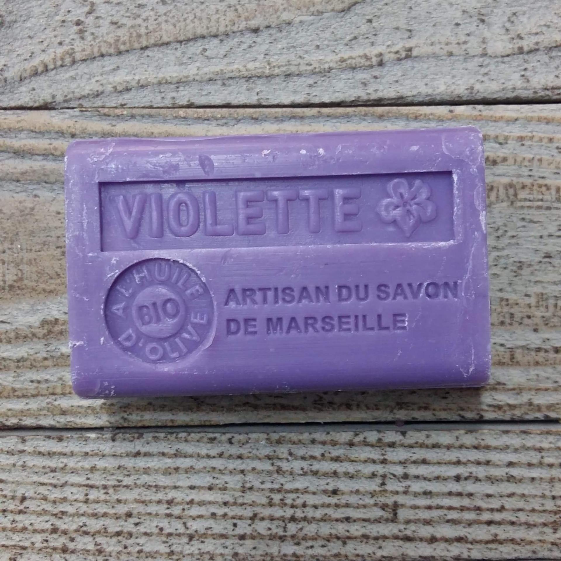 Savon de marseille 125 gr violette 1