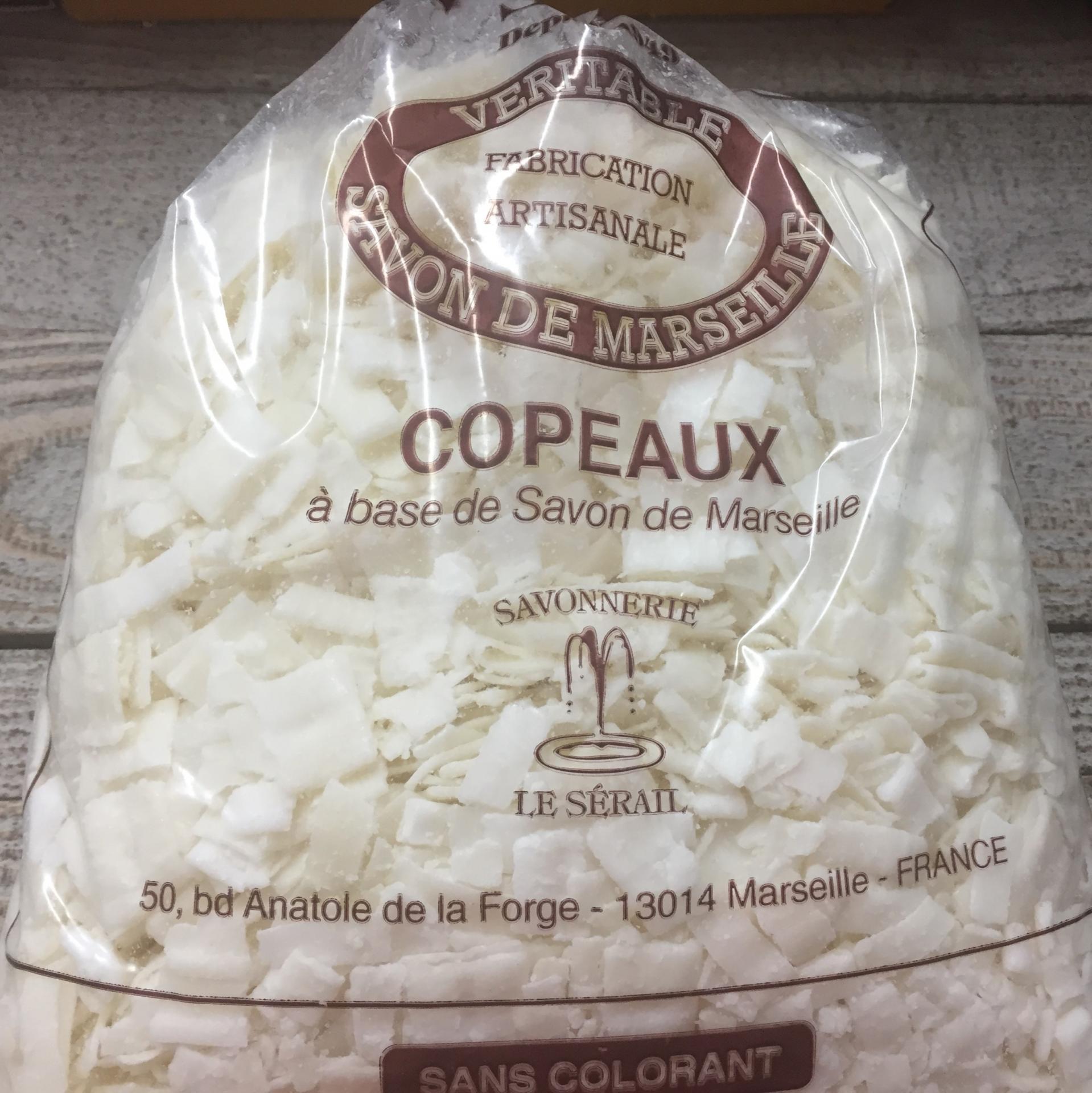 Copeaux de savon de Marseille nature