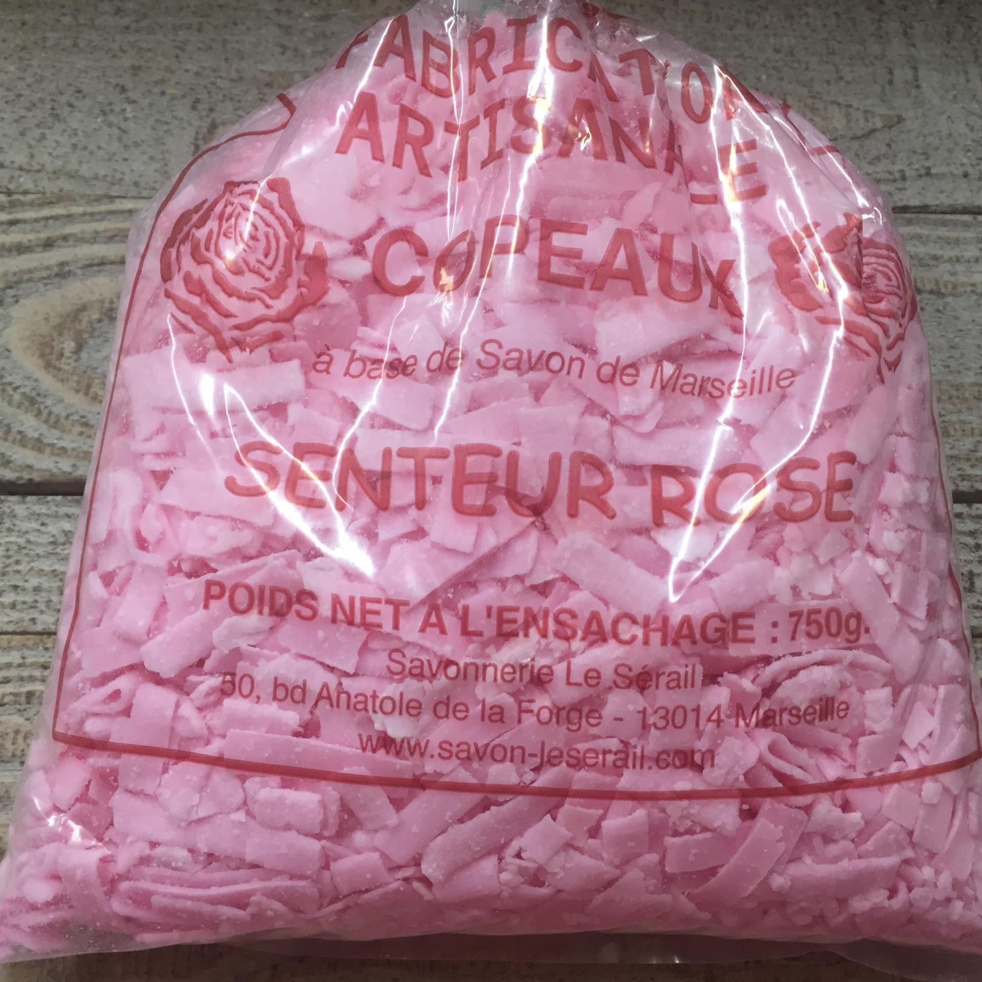 Copeaux de savon de Marseille senteur rose