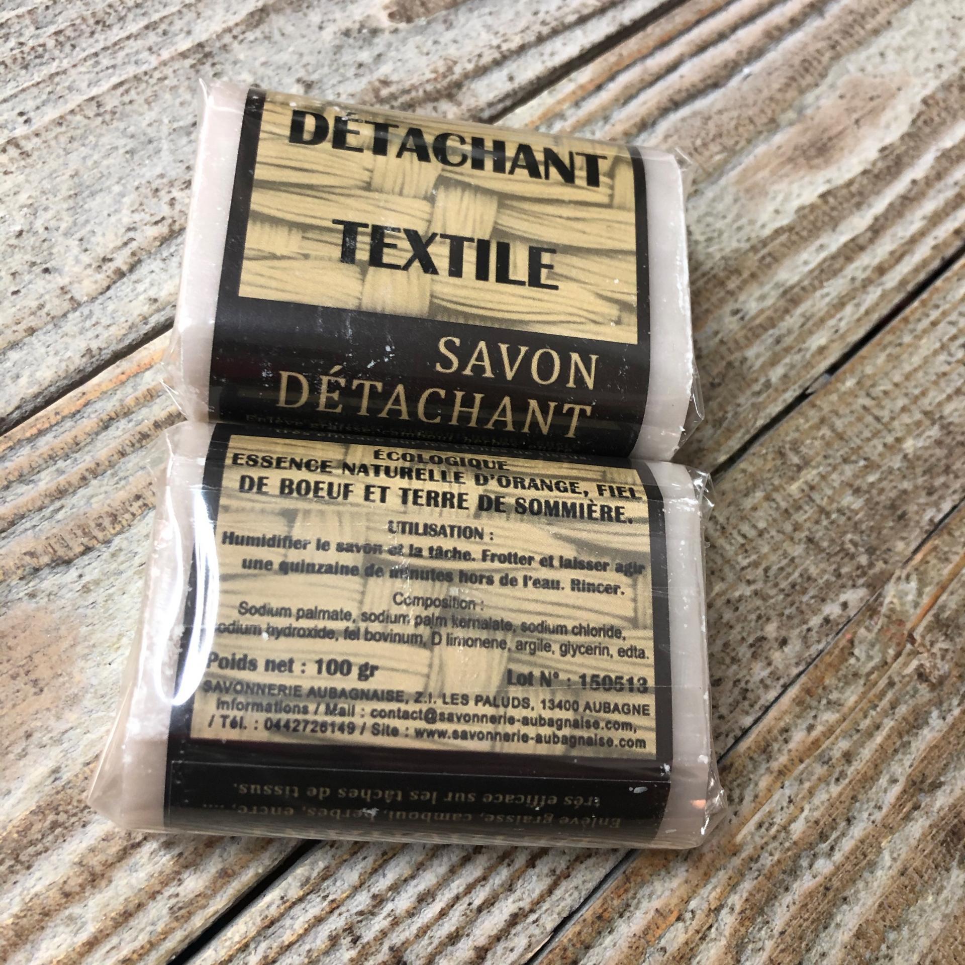 Savon de tachant textile