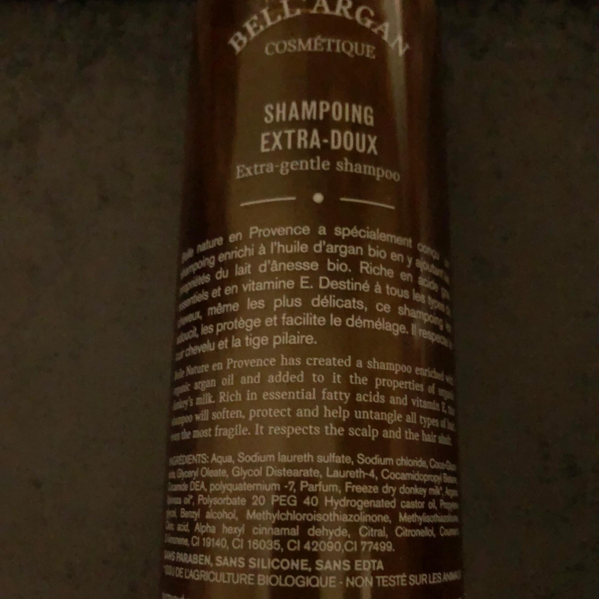 Shampooing a l huile d argan composition