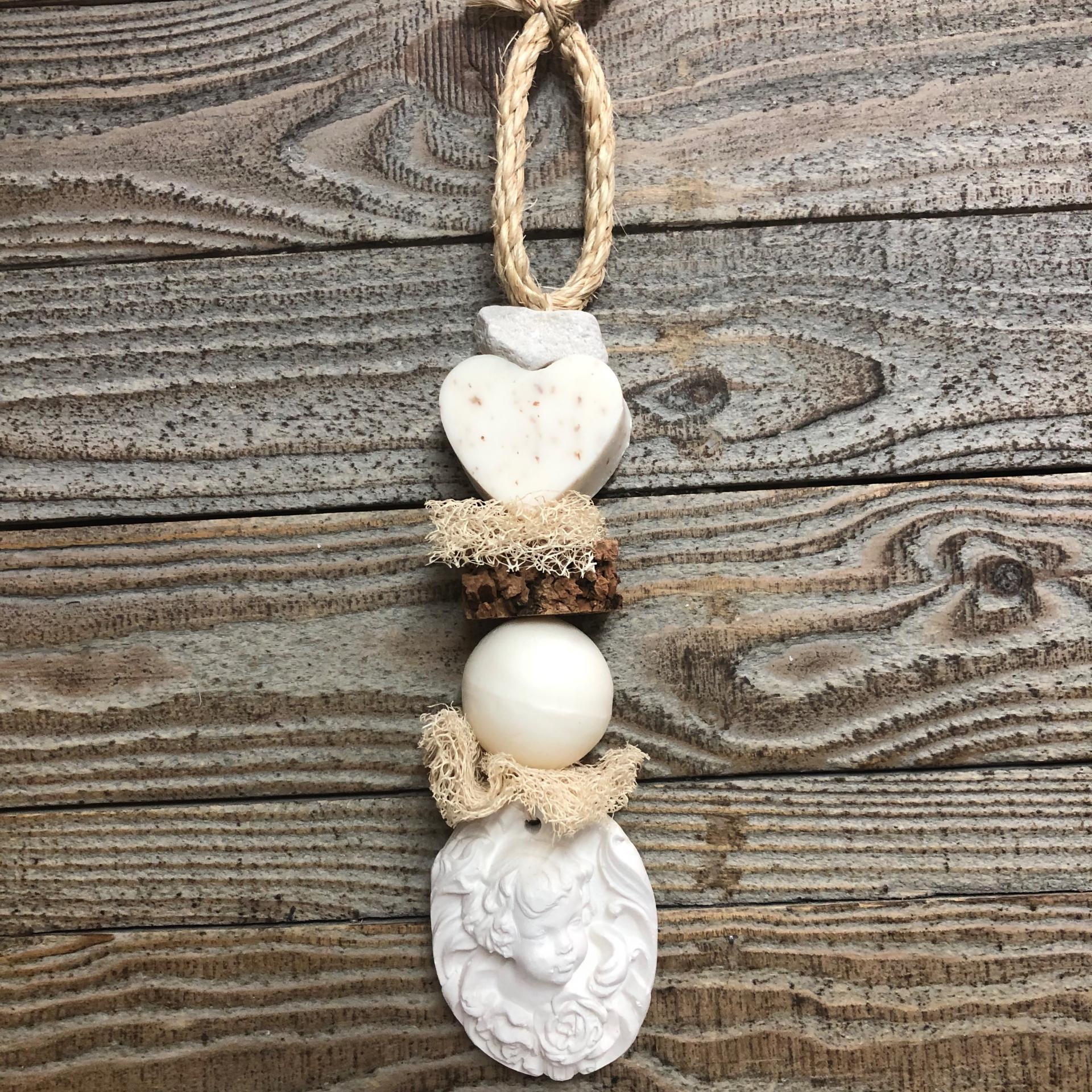 Tresse savon coeur fleur de coton