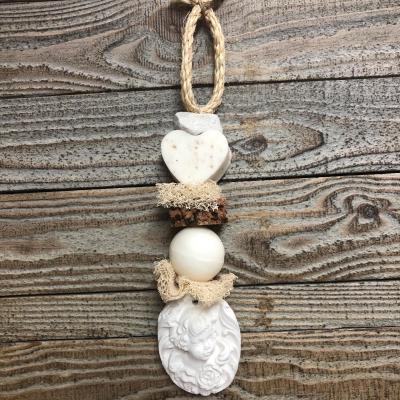 Tresse de savon Coeur & Boule fleur de coton