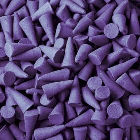 Cônes d'encens indiens violette X 10